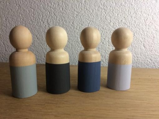 Houten poppetjes mannen, papa, peg dolls, liefsvanlauren.nl