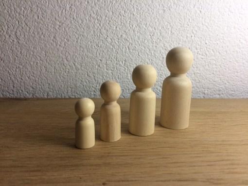 Houten poppetjes blanco, schilder zelf je gezin, liefsvanlauren.nl