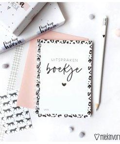 Uitsprakenboekje, MIEKinvorm, panterprint, wild theme, liefsvanlauren.nl