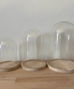 Stolpen, glazen stolpen, houten poppetjes met stolp, liefsvanlauren.nl