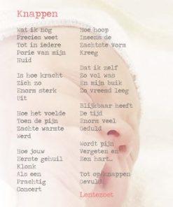 Knappen, geboorte, bevalling, gedicht Lentezoet -liefsvanlauren.nl