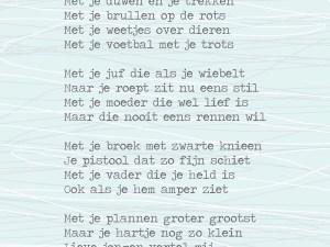 Groots, opvoeden, gedicht Lentezoet Jongens -liefsvanlauren.nl