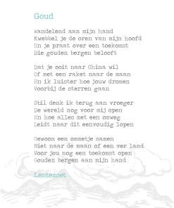 Goud, gedicht lentezoen, kinderen, ouderschap, liefsvanlauren.nl