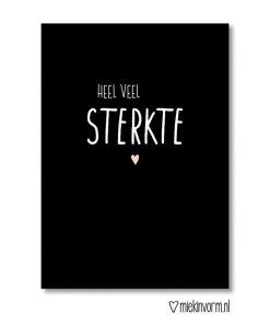 Sterkte kaart, Rouw, ziekte, MIEKinvorm, liefsvanlauren.nl
