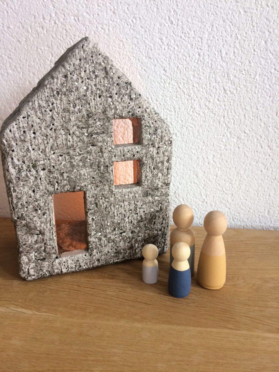 Aardewerk huisje, Sfeerhuisje, beton, sfeerlicht, liefsvanlauren.nl