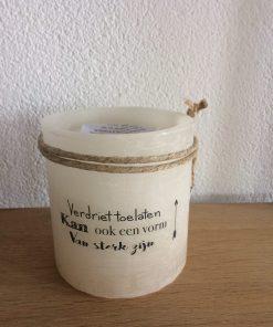 Windlicht verdriet toelaten is ook een vorm van sterk zijn, liefsvanlauren.nl