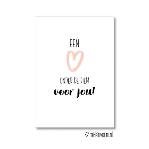 Een hart onder de riem, kaart, steun, MIEKinvorm, liefsvanlauren.nl