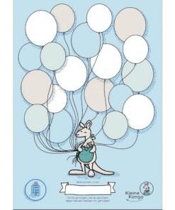 NICU poster ballonnen, kleine kanga, ziekenhuis, prematuur, liefsvanlauren.nl