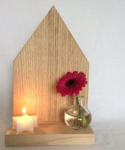 kaars ster, houten huisje, liefsvanlauren.nl