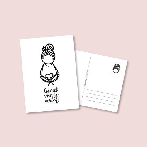 kaart geniet van je verlof, zwangerschapsverlof, irmadammekes,liefsvanlauren.nl