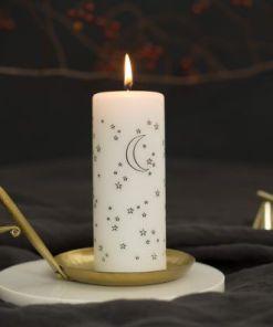 kaars to the moon and stars, Rustik Lys, maan en sterren kaars, kerst kaars, by Kimmi, liefsvanlauren.nl