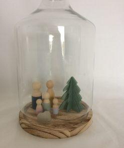 kerstboom, papier, herbruikbaar, houten poppetjes, liefsvanlauren.nl