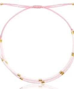 Miyuki armband Pink and white, sieraden, liefsvanlauren.nl