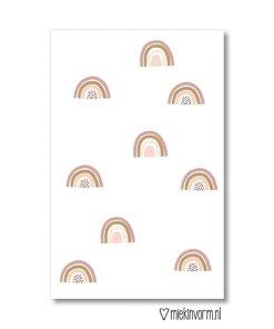 mini kaartje regenboogjes, miekinvorm, liefsvanlauren.nl