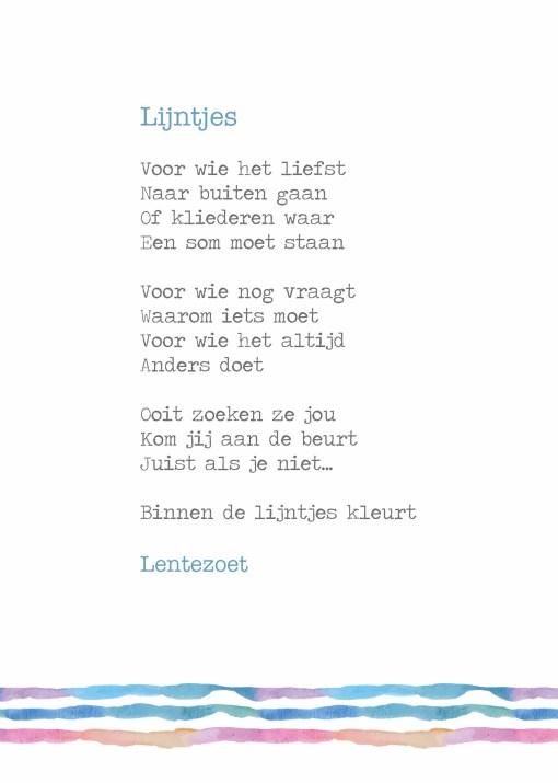 gedicht lijntjes, lentezoet, buiten de lijntjes kleuren, niet in een hokje, liefsvanlauren.nl