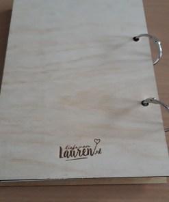 achterkant invulboek, houten invulboek, liefsvanlauren.nl