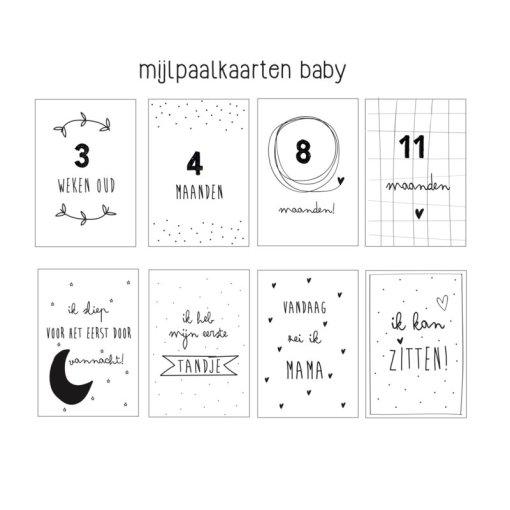 Baby eerste jaar Mijlpaalkaarten, huisje no56, mijlpaalkaarten eerste jaar baby, liefsvanlauren.nl