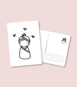 kaart baby meisje, geboorte kaartje,felicitatiekaartje geboorte, irmadammekes, liefsvanlauren.nl