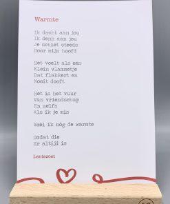 gedicht warmte, liefde en vriendschap, lentezoet, gedicht gemis, liefsvanlauren.nl
