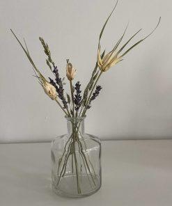 glazen vaasje breed, droogbloemen boeket wit, droogbloemen, liefsvanlauren.nl