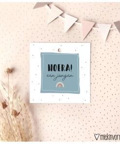 cadeau label regenboog jongen, miekinvorm, kado label, liefsvanlauren.nl