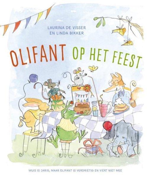 olifant op het feest, Laurina de visser, gemis, verdriet, vriendschap, prentenboek rouw, liefsvanlauren.nl