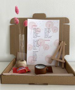 brievenbuspakket broos, broos, zwangerschapsverlies, lentezoet, gedicht, cadeautje, liefsvanlauren.nl