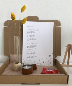 brievenbuspakket verdriet, troost, bemoediging, liefs per post, cadeau pakket, liefsvanlauren.nl