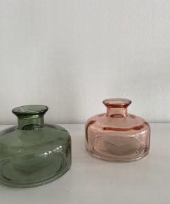 roze vaasje breed, duif international, droogbloemen, liefsvanlauren.nl