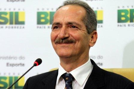 Brasilia, 22/12/2011 - Ministro do Esporte, Aldo Rebelo durante entrevista coletiva para fazer um balanço de sua gestão e falar sobre as perspectivas para 2012. (Foto: Glauber Queiroz/ME)