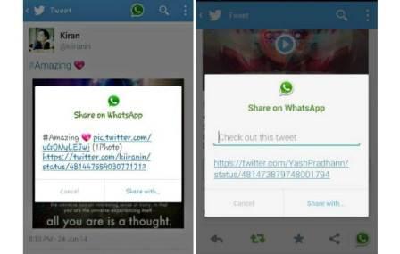 Twitter e WhatsApp