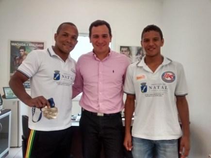 Leonardo, Secretário Eduardo Machado e Fábio