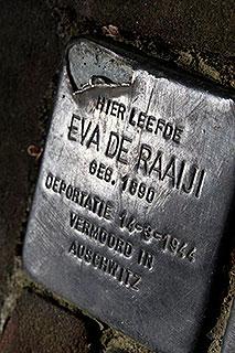 Stolperstein of struikelsteen in Eindhoven. Ter herinnering aan slachtoffers van de Tweede Wereldoorlog.