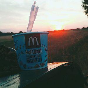 Ik had weer een zonnesteek maar wel een lekker ijsje