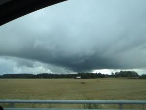onderweg onweer