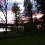 synchroonkijken,Zweden,2015,Tolvsbo,meer,zonsondergang