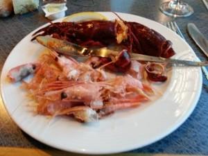 buffet,Stenaline,veel vis,schaaldieren