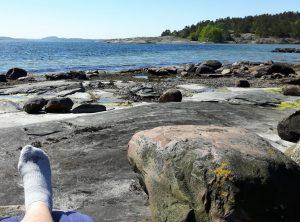 Zweden,Tjörn,Berga,zee,zon,zwaluwen,golven,wind,mei,2016,rechter voet