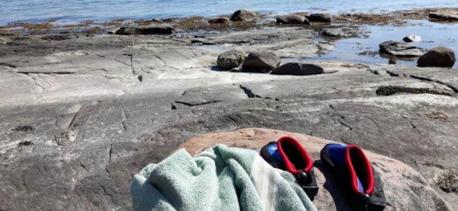 Zweden,Tjörn,Berga,strandje,zwemmen,juni,2016