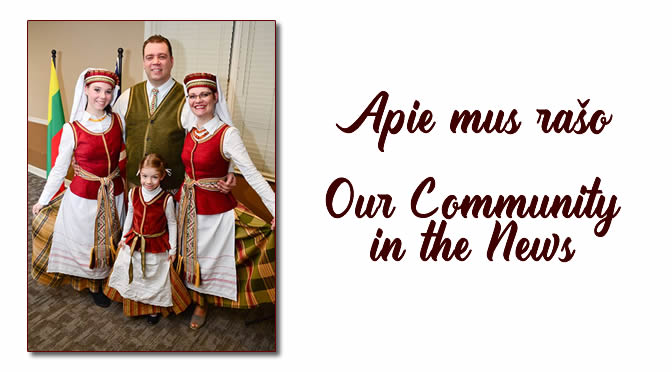 Apie mus rašo /  Our Community in the News