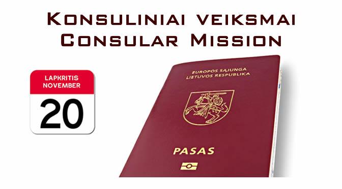 Konsuliniai veiksmai / Consular Mission