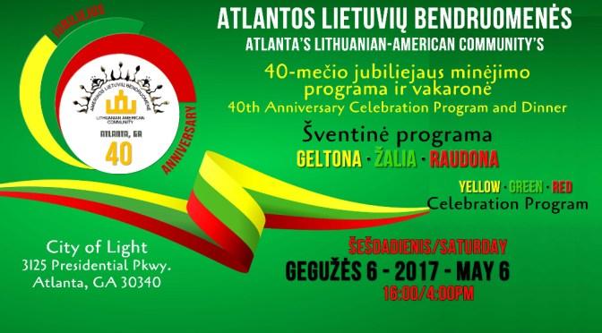 Atlantos Lietuvių Bendruomenės 40-mečio programa / 40th Anniversary Program