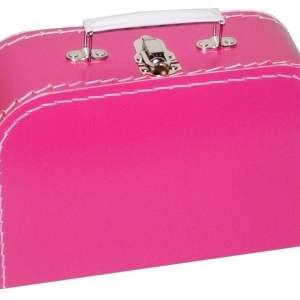 Fuchsia koffertje met naam en/of afbeelding