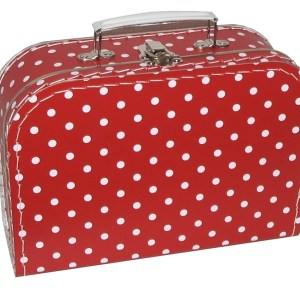koffertje rood stip