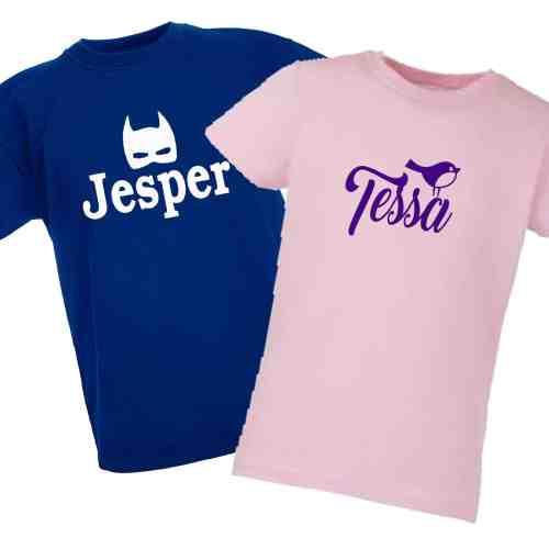 Kinder Shirt met naam en/of afbeelding