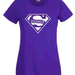 Shirt supermama paars