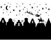 Raamsticker Sint/Kerst