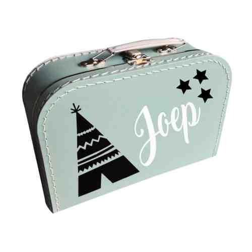 Mint koffertje met naam