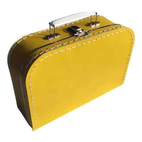 Oker koffertje met naam