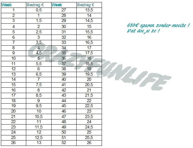 spaarchallenge-tabel